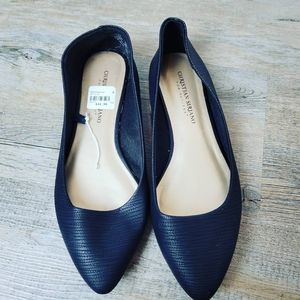CHRISTIAN SIRIANO BY PAYLESS | black flats size 8W
